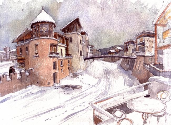 Jostovo canal hiver